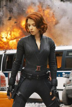 Black Widow From The Avengers:  What to wear: Just your typical skintight pleather suit will do. You'll need a utility/weapons belt. A wig with short, wavy, red hair is a must. How to act: Casual, but armed with the knowledge that you could kick anyone's ass if you wanted to.