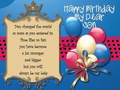 Birthday Wishes For Son Happy