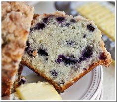 Big Beautiful Bakery-Style Buttermilk Blueberry Muffins...SOOO good!