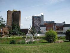 Lake at Aston University, Birmingham, England Aston University, Birmingham England, Heaven And Hell, Land Art, Landscape, City, Water, Gripe Water, Scenery