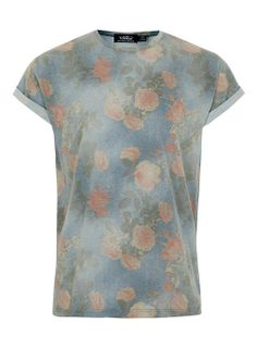 Washed Rose High Roll T-shirt - Men's T-shirts & Tanks - Clothing - TOPMAN USA on Wanelo
