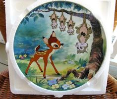 Vintage Bambi Plate Disney Collector Plate by HipCatRetroVintage, $34.50  https://www.etsy.com/listing/166539946/vintage-bambi-plate-disney-collector?ref=shop_home_active