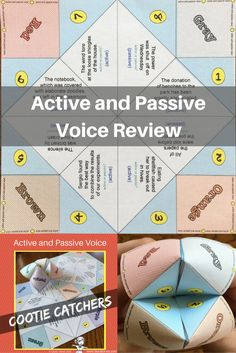 Review active and passive voice with these fun cootie catchers! $