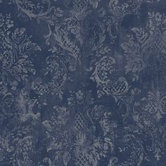 Damask Wallpaper by Norwall Wallpaper. 50 Year Anniversary Sale - Up to off everything through April Paisley Wallpaper, Vinyl Wallpaper, Wallpaper Roll, Pattern Wallpaper, Damask Wallpaper Living Room, Dark Blue Wallpaper, Chinoiserie Wallpaper, Wallpaper Borders, Wallpaper Designs
