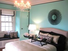 tiffany blue bedroom future-dream-home minus the breakfast in bed. I hate breakfast in bed