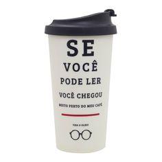 Copo Térmico Viagem - De Olho No Café - uatt To Go Becher, Otaku, Geek Decor, Take My Money, Cute Mugs, Decoration, Geek Stuff, Funny Memes, Humor