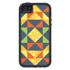Geometric Background Colors Case For iPhone SE/5/5s