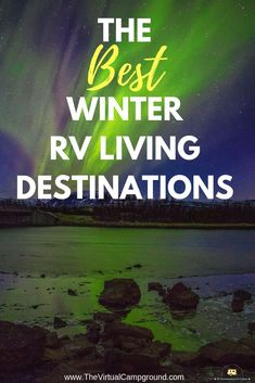 Check out this post for a list of the best winter travel destinations in the USA for 2018. Written especially for cold weather loving full-time RV families, this post contains everything you'll need to know about riding out the snow in your travel trailer or 5th wheel RV. | www.TheVirtualCampground.com #wintertravel #winter #RVLiving #fulltimeRVliving #RV #traveltrailer #5thwheel #fifthwheel #destinations #travel #campgrounds #bestRVcampgrounds #winterRVing