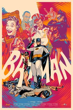 Awesome #Batman #TVShow Poster from #SDCC - check out more Batman prints here: http://bit.ly/batmantasprints