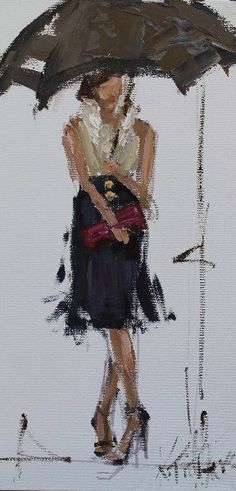Kathryn Morris Trotter, a native Mississippian, claims that painting is her greatest passion. Kathryn Morris, Rain Pictures, Umbrella Art, People Art, Texture Art, Painting Inspiration, Lovers Art, Art Lessons, Oil On Canvas