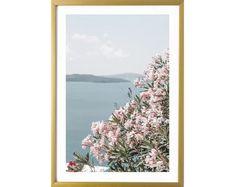 Santorini Greece Wall Art Prints Pink Photography Room Decor