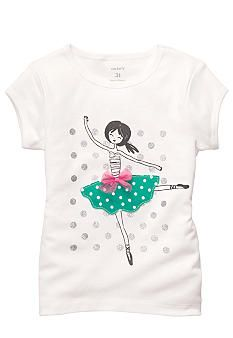Carter's® Ballerina Tee Toddler Girls