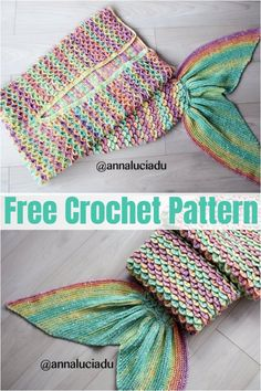 Unique And Colorful Crochet Mermaid Tail Blanket Patterns For All - DIY Crafts Crochet Mermaid Tail Pattern, Mermaid Tail Blanket Pattern, Mermaid Baby Blanket, Diy Mermaid Tail, Crochet Mermaid Blanket, Mermaid Blankets, Crochet For Kids, Free Crochet, Crochet Toys