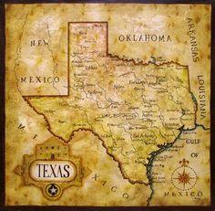 Map Of Texas After It S Statehood Induction Into The United States Of America In 1845