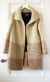 Knitting Patterns Coat Buy a coat 'The warm of summer' – beige, monophonic, crocheted … Crochet Coat, Crochet Cardigan, Crochet Clothes, Knitted Coat Pattern, Sweater Coats, Sweater Outfits, Sweaters, Pullover Outfit, Summer Knitting