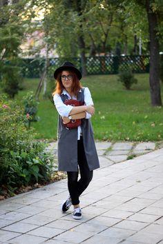 Zara waistcoat with sneakers