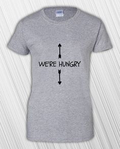 We're Hungry Shirt - Mom To Be Gift - Pregnancy Announcement - New Mom - Pregnancy Reveal - Mommy - Preggo - Miracle - Pregnancy Gift