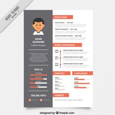 Modelo De Curriculum Vitae Corporativa  Simple Resume Layout Cv