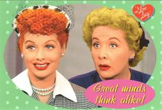 Lucy & Ethel Great Minds Think Alike Postcard | LucyStore.com