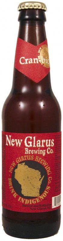 Cerveja New Glarus Cran-bic, estilo Lambic - Fruit, produzida por New Glarus Brewing Company, Estados Unidos. 6% ABV de álcool.
