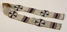 Sioux Beaded Blanket Strip,19th century