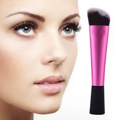 1 PCS Professional Cosmetic Makeup Brush Blush Brush Face Power Fundation Soft Brush Hotpink Handle Make Up Cosmetic Tool