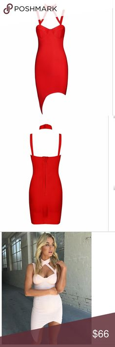 sexy red bandage dress size XS (New without tags)! Stop traffic in this sexy red dress!!!!! NWOT sexy red bandage dress with padded bra cups so no need for a bra! Size XS Dresses Mini