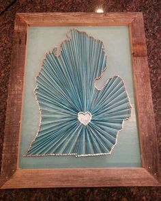 Three state string art country string art state love adjoining string art of michigan with my heart in east lansing copper nails and blue ombre freerunsca Images