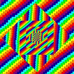 Xenoself makes optical illusions out of color cycles and other experiments.