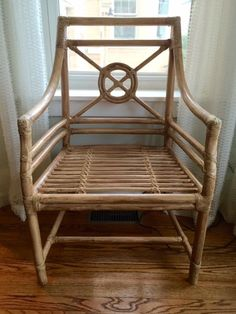 4 McGuire Style Bamboo Chairs