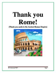 What did Rome Leave Behind?:  Roman Legacy Thank You Cards