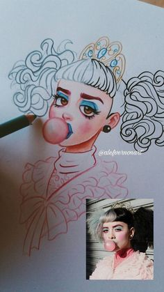 Melanie Martinez Drawings, Crybaby Melanie Martinez, Arte Horror, Cry Baby, Art Sketchbook, Drawing Reference, Cool Drawings, Art Sketches, Character Design