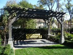 Wood Arbor and Bench Swings - traditional - landscape - other metro - The Collins Group/JDP Design