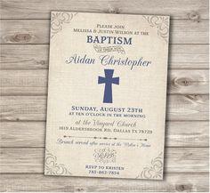 Baptism Cards, Baptism Favors, Baptism Ideas, Baby Boy Baptism, Boy Christening, Vintage Invitations, Printable Invitations, Vintage Baptism, Christening Invitations Boy