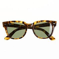 Ray Ban meteor sunglasses. LOVE. PC  J Crew website. Sunglasses 2016 e4b182ff28f42