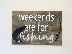 Fishing Art  Reclaimed Barnwood Sign  Handpainted by TheDoubleDubs, $40.00