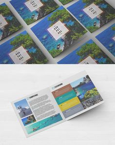15 Travel Brochure Examples With Enticing Designs Brochure Examples, Brochure Layout, Corporate Brochure, Brochure Design, Brochure Template, Magazine Layout Design, Book Design Layout, Design Design, Print Design