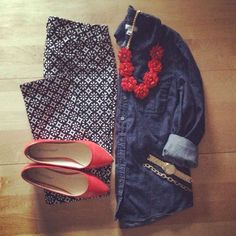 Love this entire outfit. I have a similar necklace