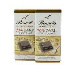 Bennetts of Mangawhai dark chocolate bar. Dark Chocolate Bar