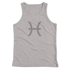 Young Motto Mens Pisces Traits Tank Top