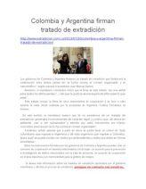 Colombia y Argentina Firman Tratado de Extradición