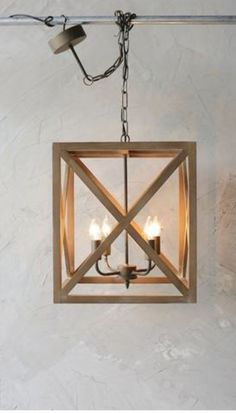 Our Wood and Metal Square Chandelier will light the room with perfect proportions. For more pendant lights visit Antique Farmhouse! Farmhouse Dining Room Lighting, Farmhouse Chandelier, Kitchen Lighting, Home Lighting, Chandelier Lighting, Unique Chandelier, Lighting Ideas, Ceiling Lighting, Lighting Design