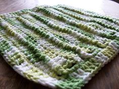 Blooming Patterns: Corded Craziness Dishcloth