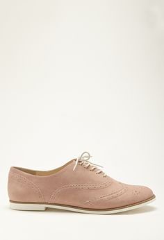 Faux Suede Brogues | Forever 21 - 2000116373