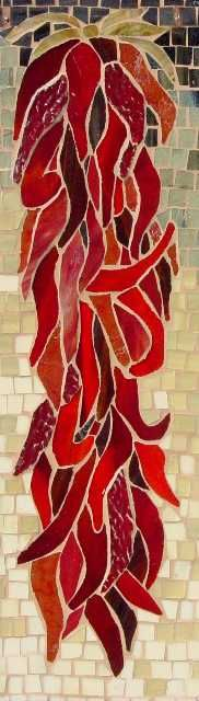 Love it! | Chili Ristra Stained Glass Panels | @www.franstoval.com