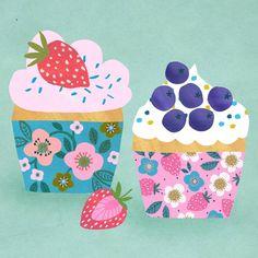 Artist Rebecca Jones of Melbourne, Australia Cut Paper Illustration, Fruit Illustration, Food Illustrations, Sweet Drawings, Food Drawing, Birthday Images, Love Painting, Food Art, Artwork