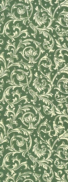 Green scrolled Christmas crafting paper from Italy