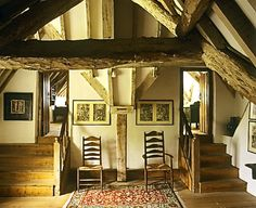 Stairs to the attic bedrooms at Kelmscott Manor