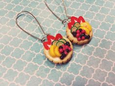 Made by Little Lovely Delights  - Spread the love! fb.com/LittleLovelyDelights #handmade #polymer #clay #fimo #pastries #fruits #earrings #gifts