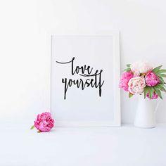 Justin Bieber quote, song lyric art, Purpose album Love Yourself lyrics dorm decor song quotes Justin Bieber Quote INSTANT DOWNLOAD PRINT